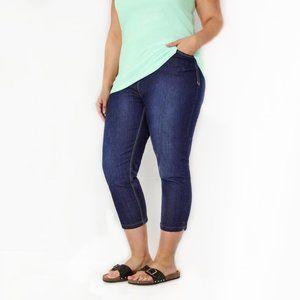 UNIQLO Plus Size Cropped Capri Jeans #AT14
